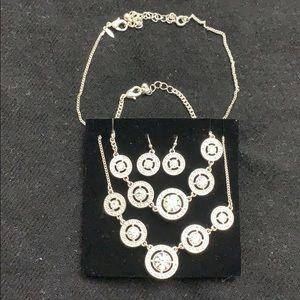 Necklace earring and bracelet set